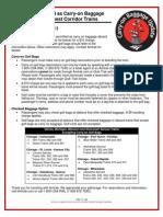Amtrak Golf Bag Carryon Info