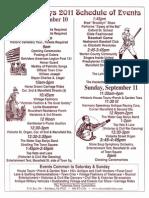 2011-09 Victorian Days Schedule