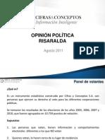 Resultados encuesta de Cifras & Conceptos en Risaralda