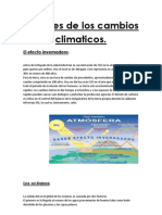 Factores de Los Cambios Climaticos