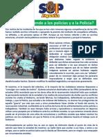 Comunicado del Sindicato Unificado de la Policía (SUP)