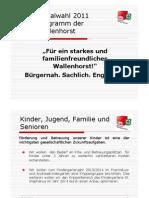 Wahlprogramm 2011 2.0