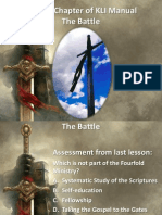 """Second Chapter of KLI Manual """"The Battle"""""""