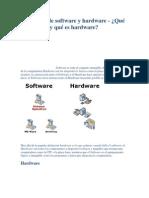 Definición de software y hardware