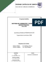 Historia de Corrientes y Modelos de Admin is Trac Ion