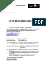 Sistema y Gestión Política Implicaciones para Latinoamérica