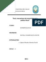 Mecanismos de Transmision de La Politica Fiscal- Peru