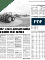 John Deere, demostración de poder en el campo