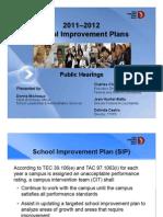 DISD School Improvement Plans for AU Campuses