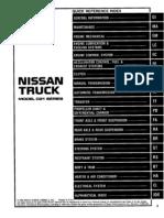 Nissan Truck D21 Service Manual 97