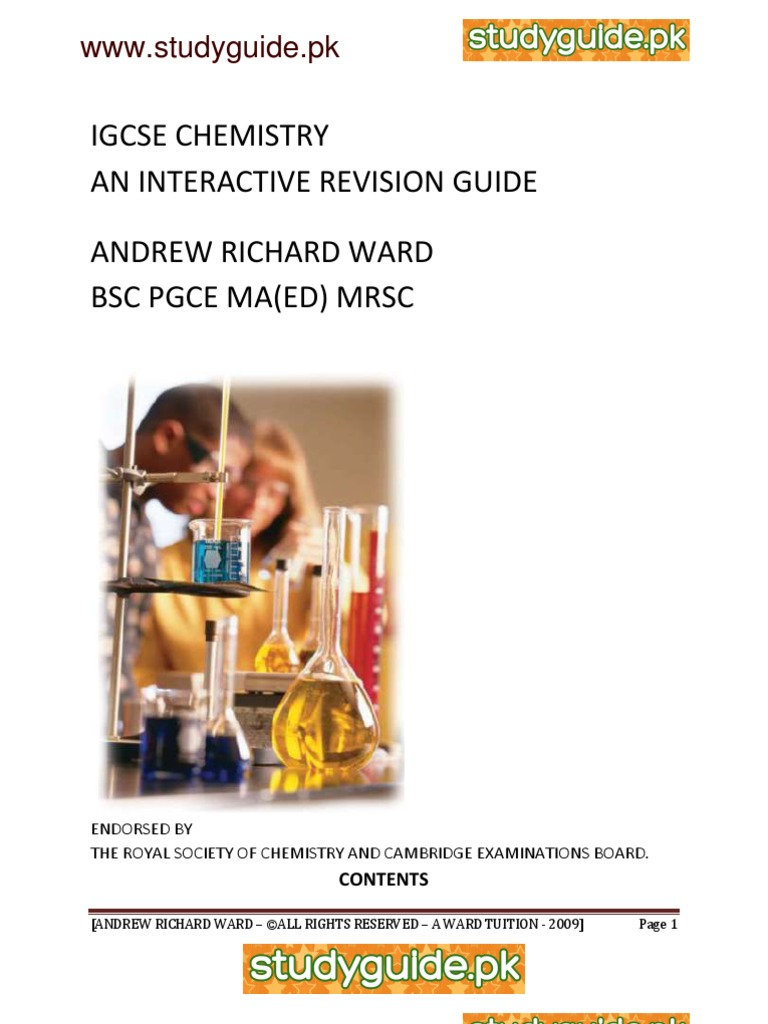 my igcse chemistry revision guide