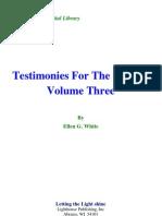 Ellen G. White - Testimonies for the Church Volume Three