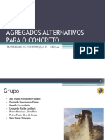 Agregados Alternativos para o Concreto