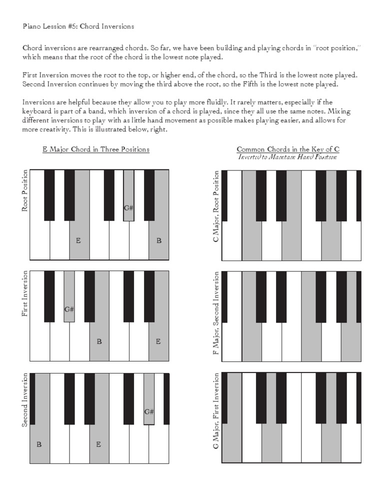 Pl 5 Chord Inversions