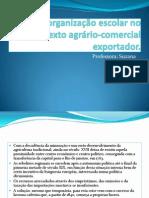 A organização escolar no contexto agrário-comercial exportador
