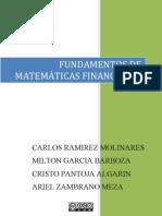 FUNDAMENTOS DE MATEMÁTICAS FINANCIERAS