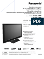 Panasonic TC-37LZ800 manual