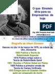 O que Einstein diria p os empresários d hoje