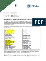 FEMA Diaster Recovery Centers