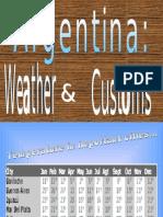 Argentina Customs-weather