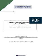 PME-P MI ET DÉVELOPPEMENT DURABLE Ile de france