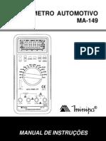 Manual Multímetro Automotivo Minipa MA-149