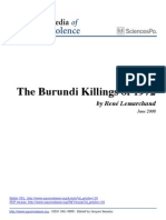 Rene Lemarchand Burundi Killings of 1972