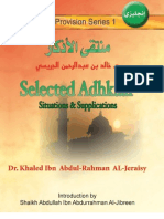 Selected Adhkaar Situations & Supplications