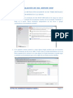 Manual de Instalación SQL SERVER 2008