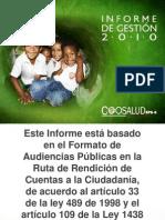 informe de gestion 2010