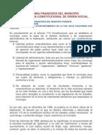 AUTONOMÍA FINANCIERA DEL MUNICIPIO