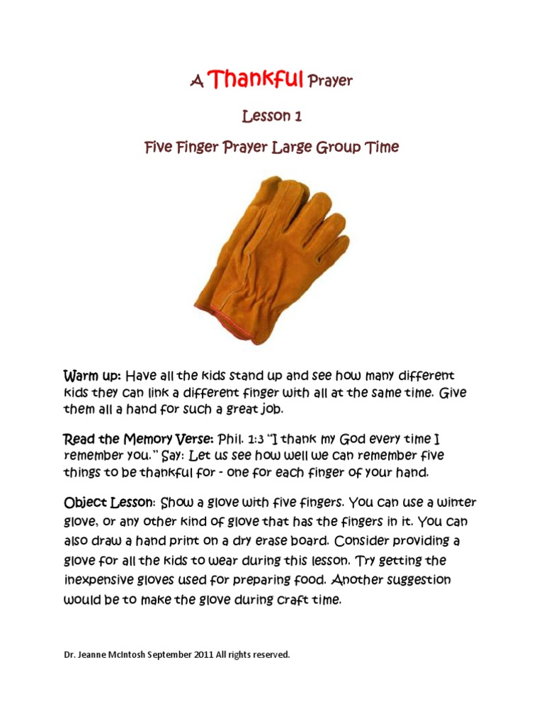 photograph about 5 Finger Prayer Printable named A Grateful Prayer Lesson 1 Prayer Jesus