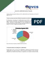 Tendencias de la Conflictividad Social en Venezuela Agosto 2011