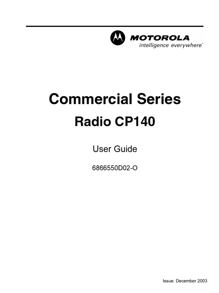Commercial Series: Radio CP140