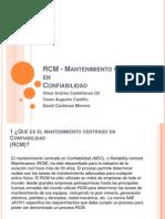 RCM - Mantenimiento Centrado En