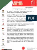 Tercera Feria Internacional del Libro de Arequipa fue lanzada oficialmente