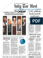 The Daily Tar Heel for September 8, 2011
