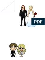 Desenho noivos