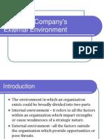 Analyzing Company's External Environment