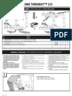 Thule 968 969 Thruway Bike Rack Installation Instructions PDF