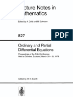 Ordinary and Partial Differential Equations