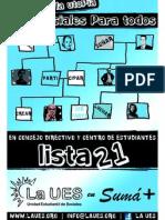 Plataforma Lista21 Consejo y Centro 2011