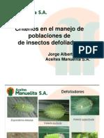 Criterios a Considerar en El Manejo de Poblaciones de Insectos Defoliadores [Modo de lid