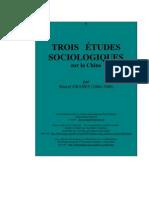Trois Etudes Sociologiques
