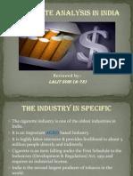 Cigarette Analysis India (07-Sept-2011)