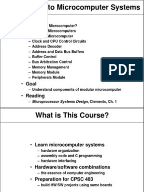 Introduction To Microcomputer Systems Outline Random Access Memory Computer Memory