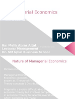 3. Managerial Economics- Nature Scope