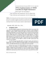 Design and FPGA Implementation of DDR3 SDRAM Controller for High Performance