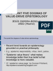 Two Point Five Dogmas of Value Driven Epistemology