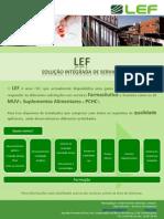 LEF - apresentação de serviços